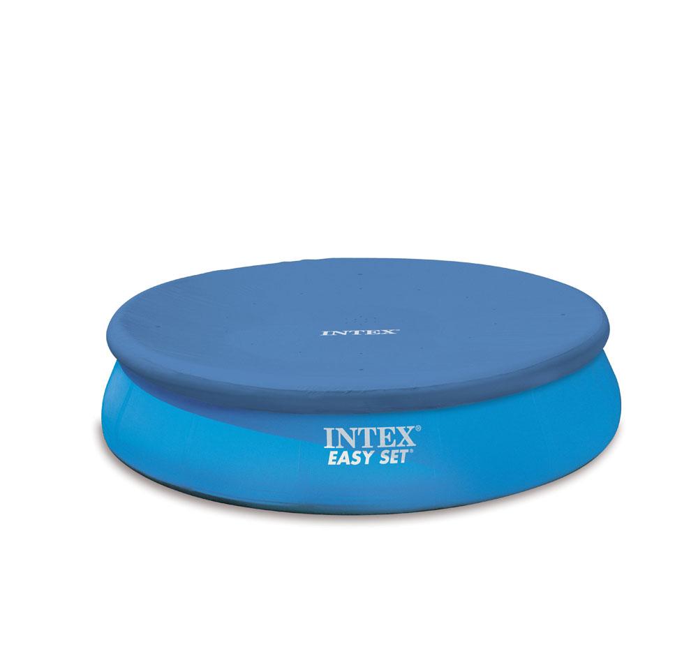 Prelata intex pentru piscine rotunde cu inel gonflabil diametru 366 cm 28022