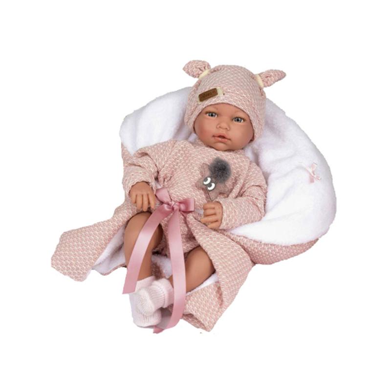 Papusa bebelus realist Blanca, fara par, 38 cm, Guca