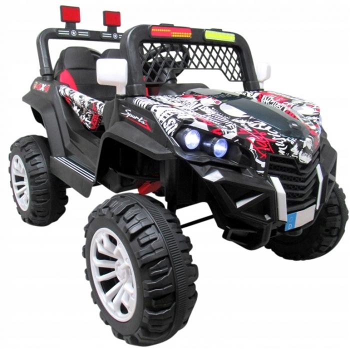 Masinuta electrica cu telecomanda 4 x 4 buggy x7 r-sport - alb