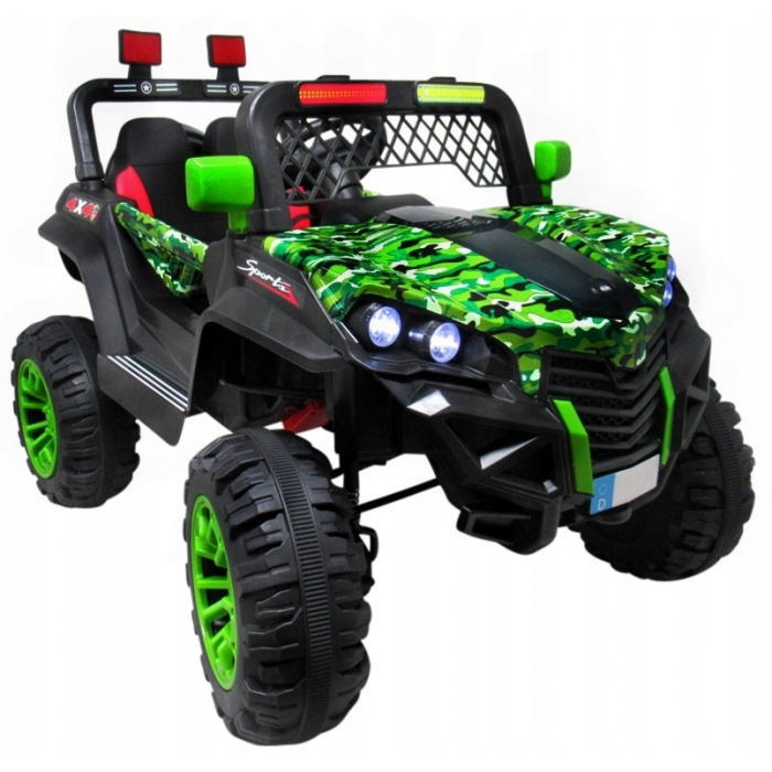 Masinuta electrica cu telecomanda 4 x 4 buggy x7 r-sport - verde