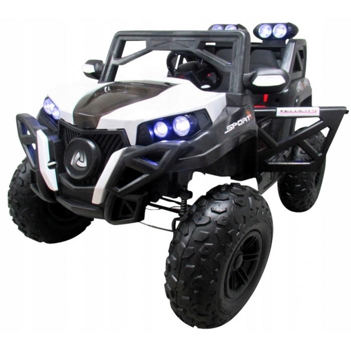 Masinuta electrica cu telecomanda 4 x 4 buggy x9 r-sport - alb