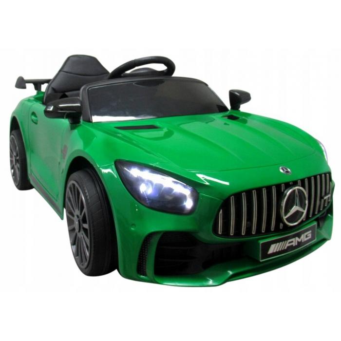 Masinuta electrica cu telecomanda mercedes amg gtr-s r-sport - verde