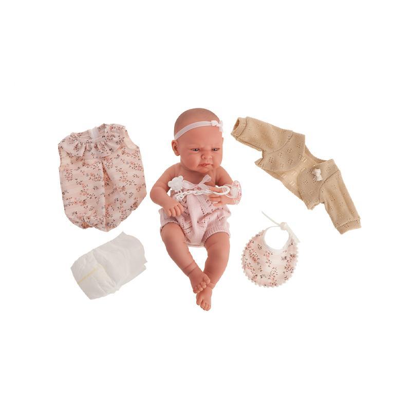 Papusa bebe realist Lea cu trusou, corp realist anatomic, Antonio Juan