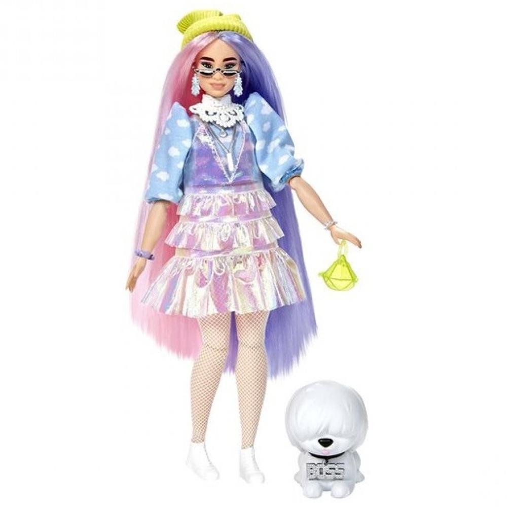 Papusa Barbie by Mattel Extra Style Beanie GVR05 cu figurina si accesorii