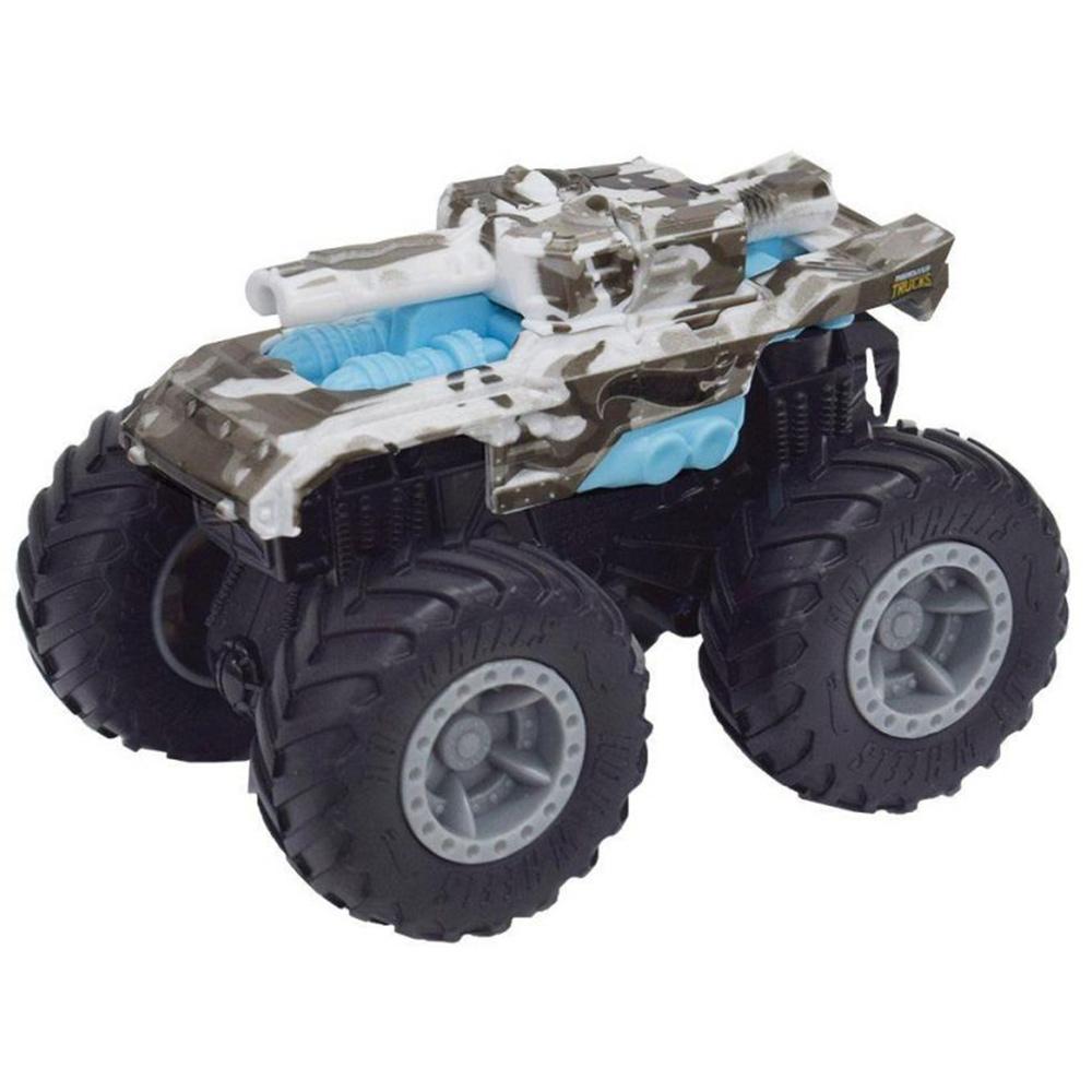 Masina Hot Wheels by Mattel Monster Trucks Invader gri