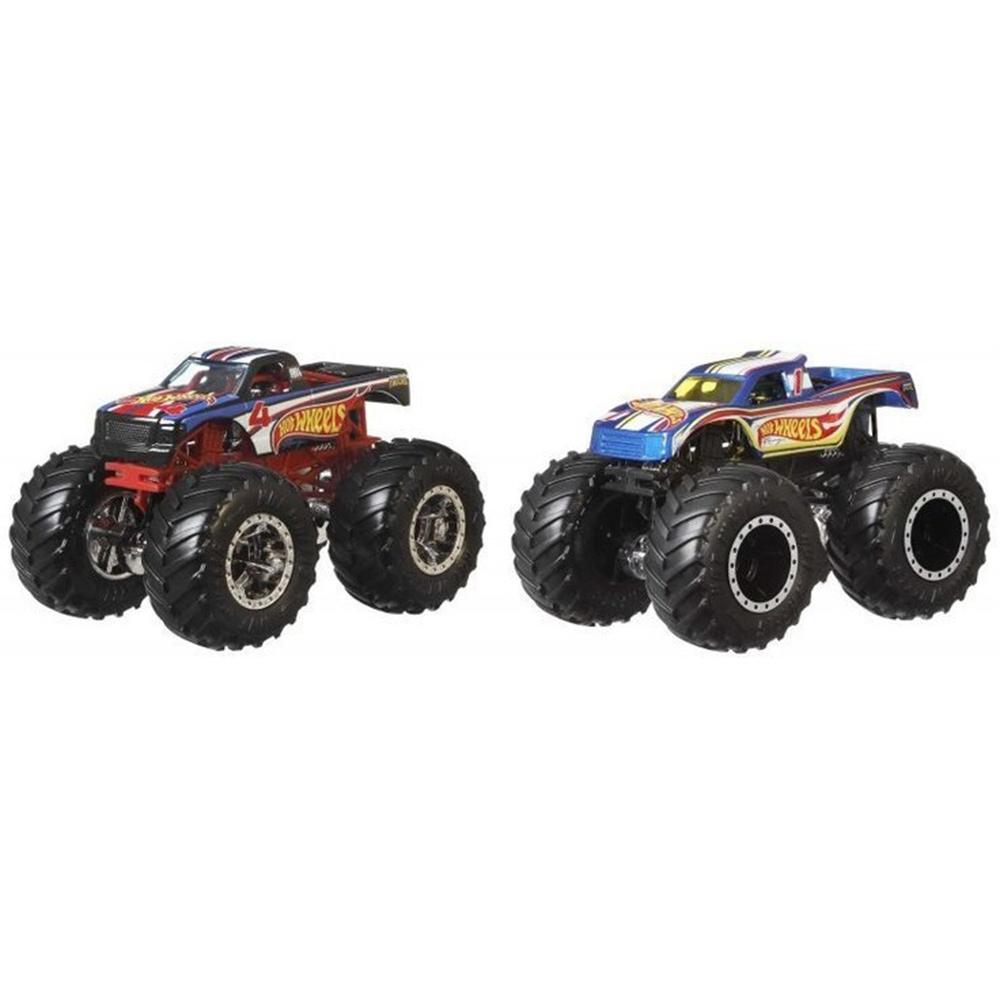 Set Hot Wheels by Mattel Monster Trucks 4 vs 1