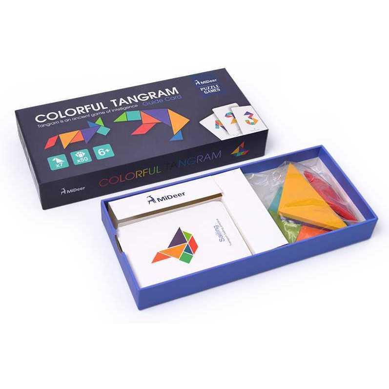 Joc educativ Tangram Colorat Mideer MD1035