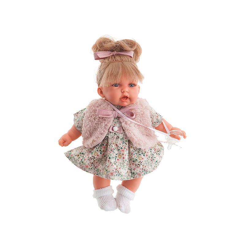 Papusa fetita cu mecanism de ras Petit Chaleco, 27 cm, Antonio Juan