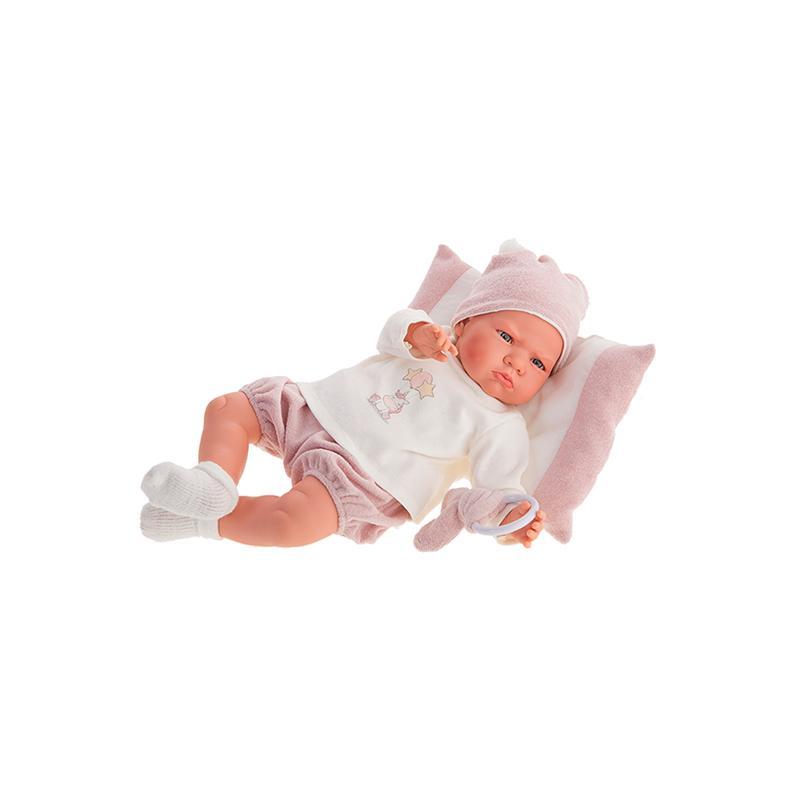 Papusa bebelus fetita Berta cu mecanism de plans, 52 cm, Antonio Juan