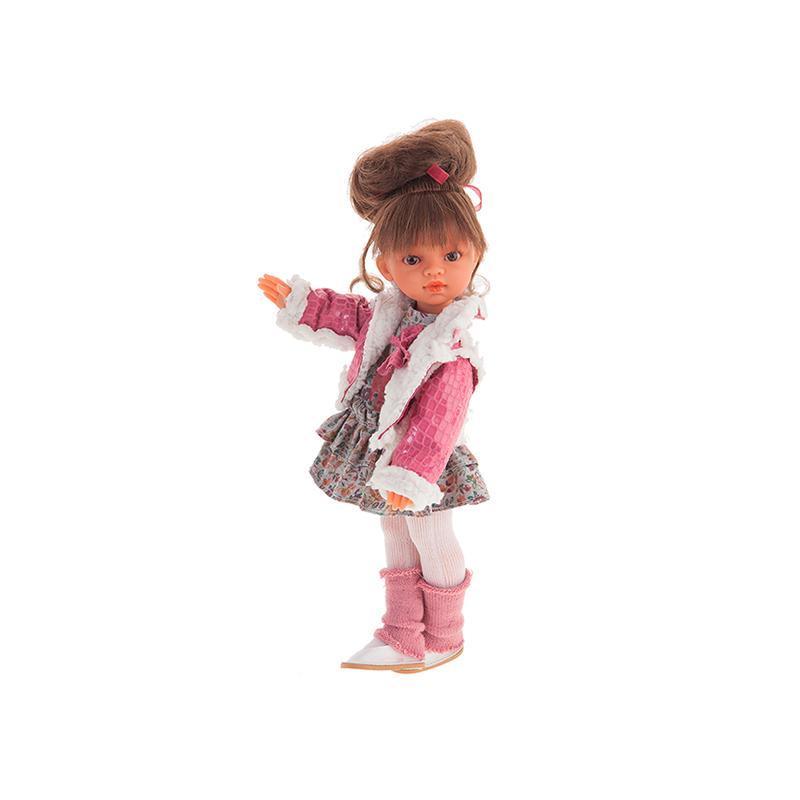 Papusa fetita Emily cu coc si jacheta, 33 cm, Antonio Juan