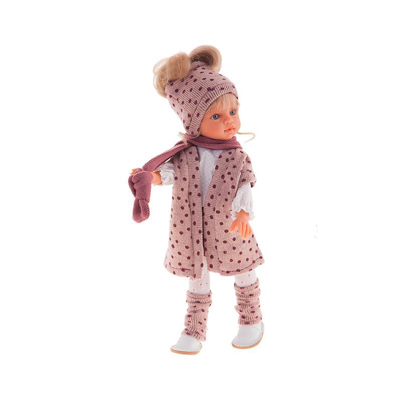 Papusa fetita Emily blonda cu hainute de iarna, 33 cm, Antonio Juan