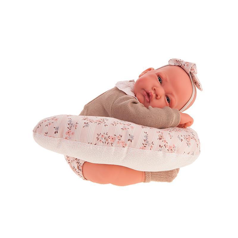 Papusa Bebelus nou nascut Cecilia cu perna pentru lactatie, 40 cm, Antonio Juan