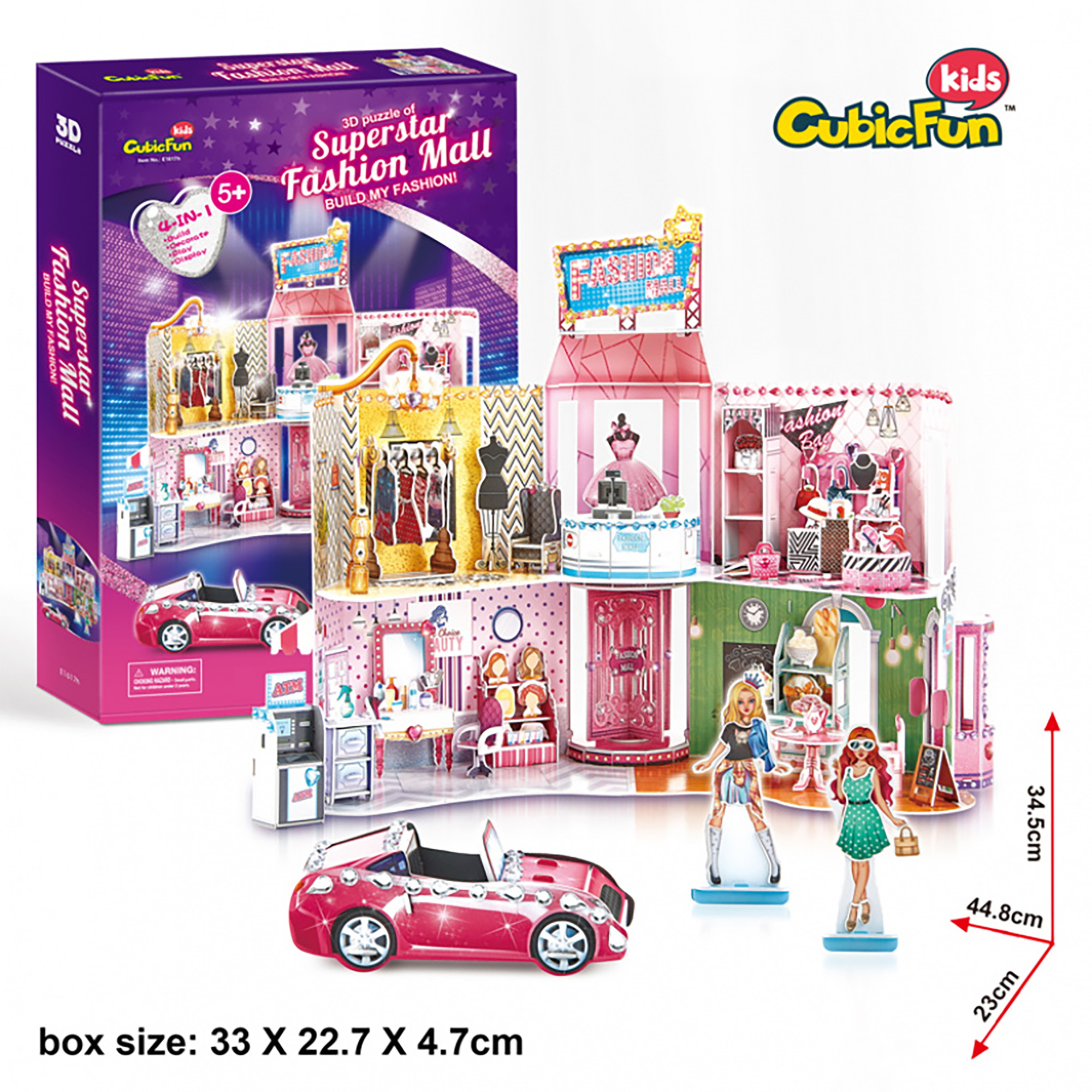 PUZZLE 3D + STICKERE MALL 157 PIESE