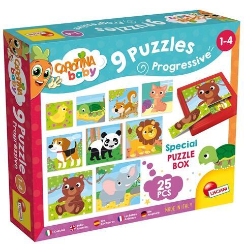 Set puzzle-uri progresive - Animalute
