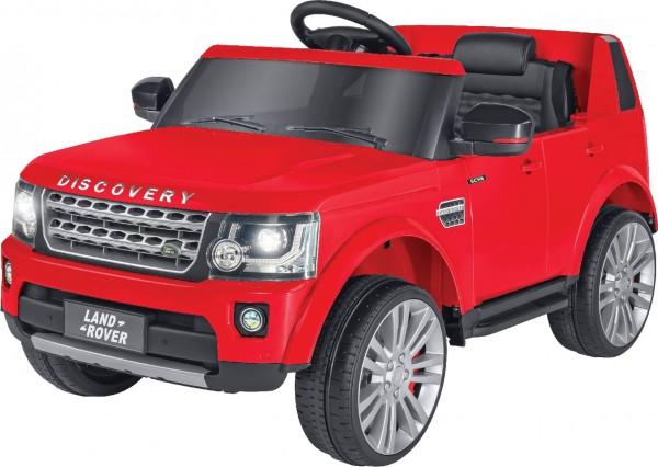 Masinuta electrica copii Discovery Land Rover Rosie Globo 12V cu telecomanda control parinti 2.4 Ghz