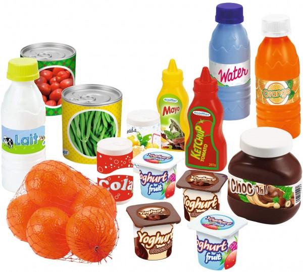 Set 20 alimente si conserve din plastic pentru copii
