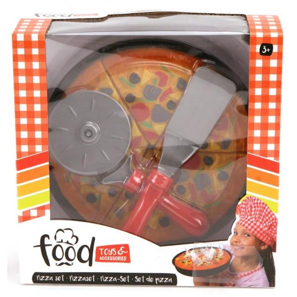 Set pizza copii din plastic cu accesorii speciale