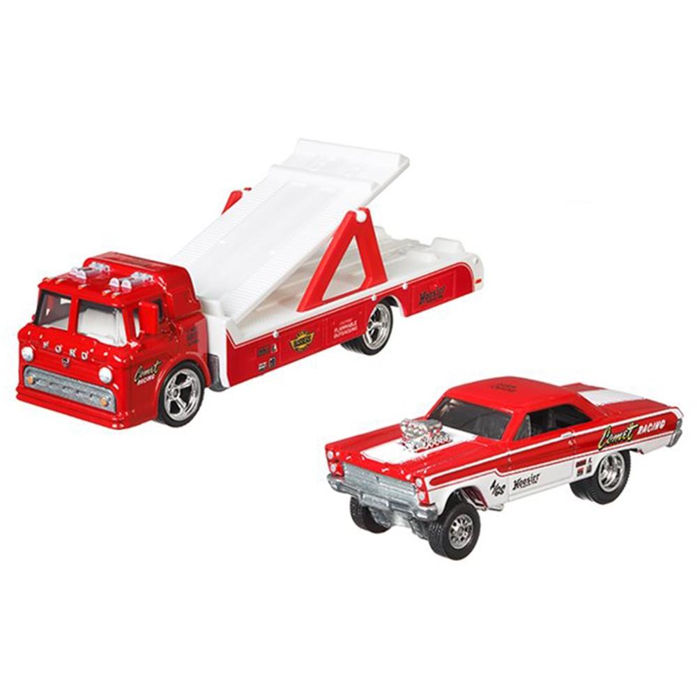 Camion Hot Wheels by Mattel Car Culture Ford C-800 cu masina Mercury Comet Cyclone 65