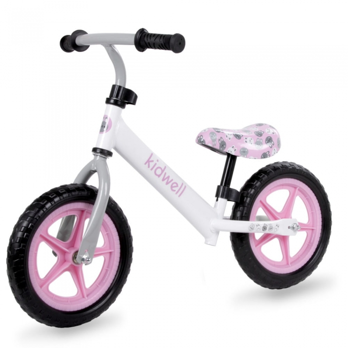 Bicicleta fara pedale kidwell rebel white bunny