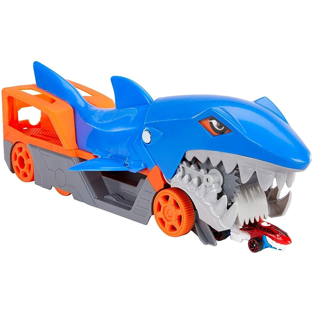 Camion Hot Wheels by Mattel Shark Chomp GVG36 cu masinuta