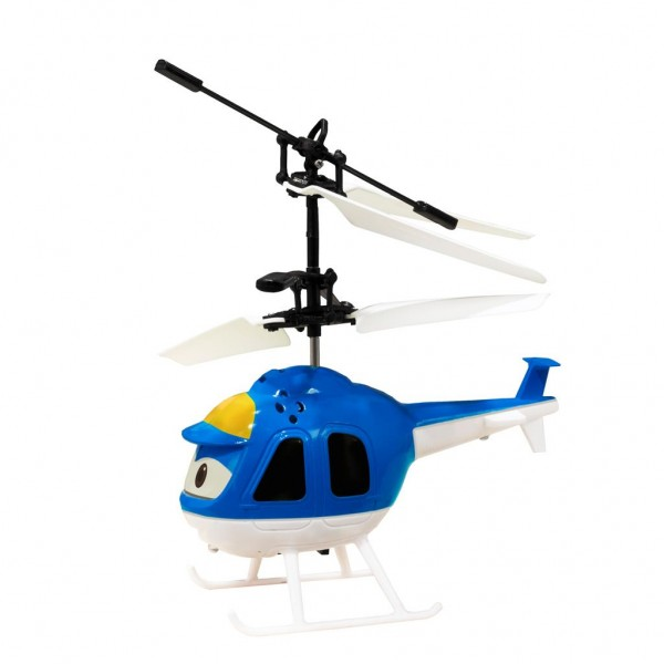 Mini elicopter cu telecomanda Wonky Toys pentru copii albastru