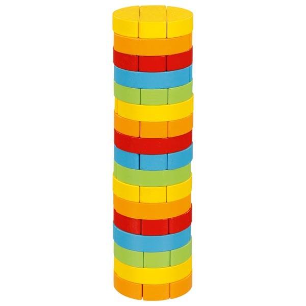 Joc Jenga cu piese din lemn Turnul Rotund