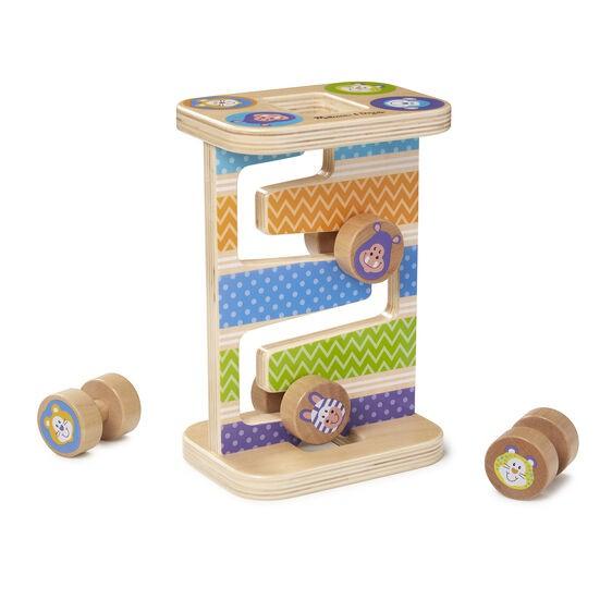 Rollercoaster din lemn pentru bebelusi Zig-Zag