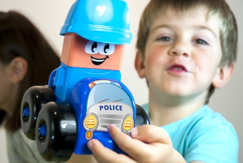 Joc Constructii Tematic Statie Politie - Miniland
