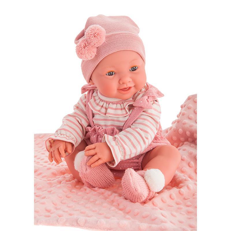 Papusa fetita, bebelus nou nascut Mia face Pipi, 42 cm, Antonio Juan