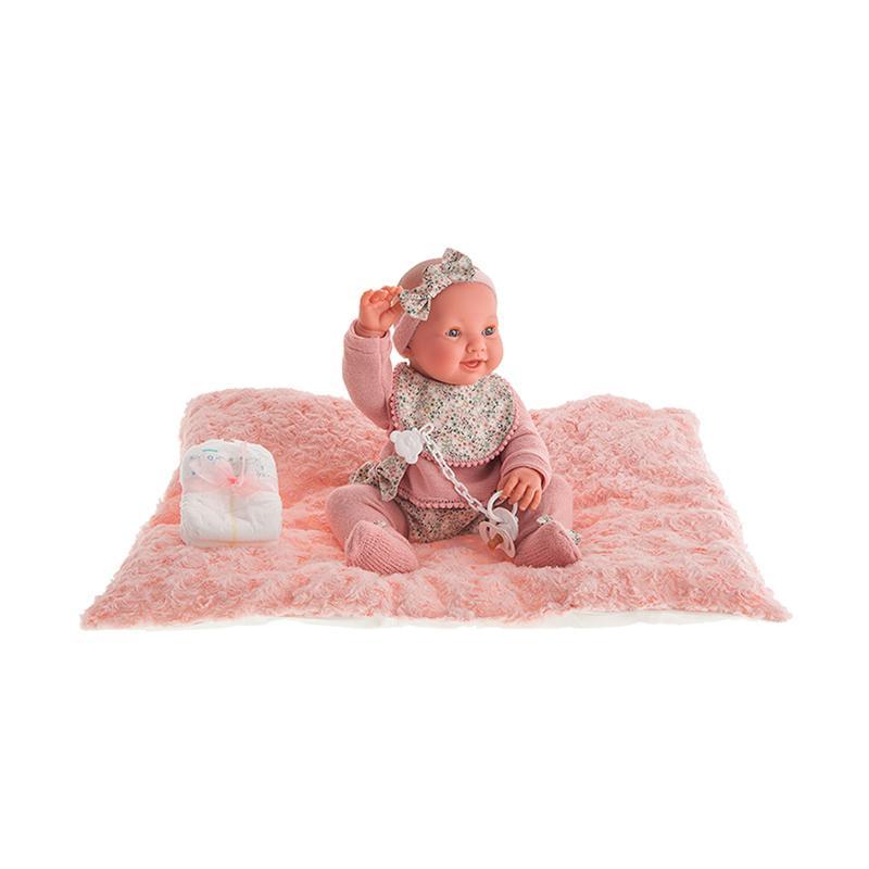 Papusa fetita, bebelus nou nascut Mia care face Pipi, 42 cm, Antonio Juan