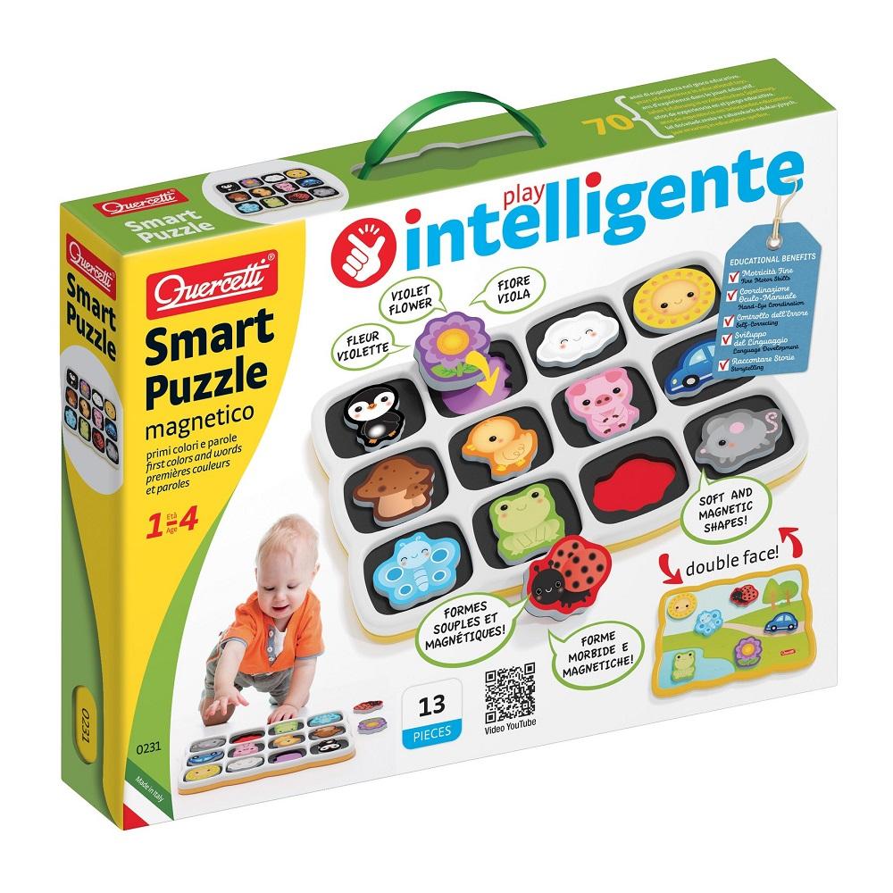 Smart Puzzle Quercetti - Primele culori si cuvinte