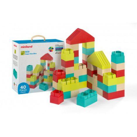 Joc de construit Eco Kim Blocks 40 piese