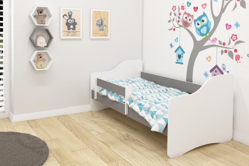 Patut Tineret III MyKids Happy White-Gray - 140x70