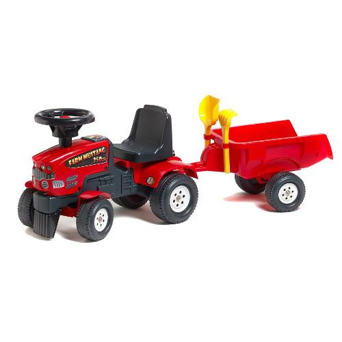 Tractoras Baby Farm Mustang Cu Remorca