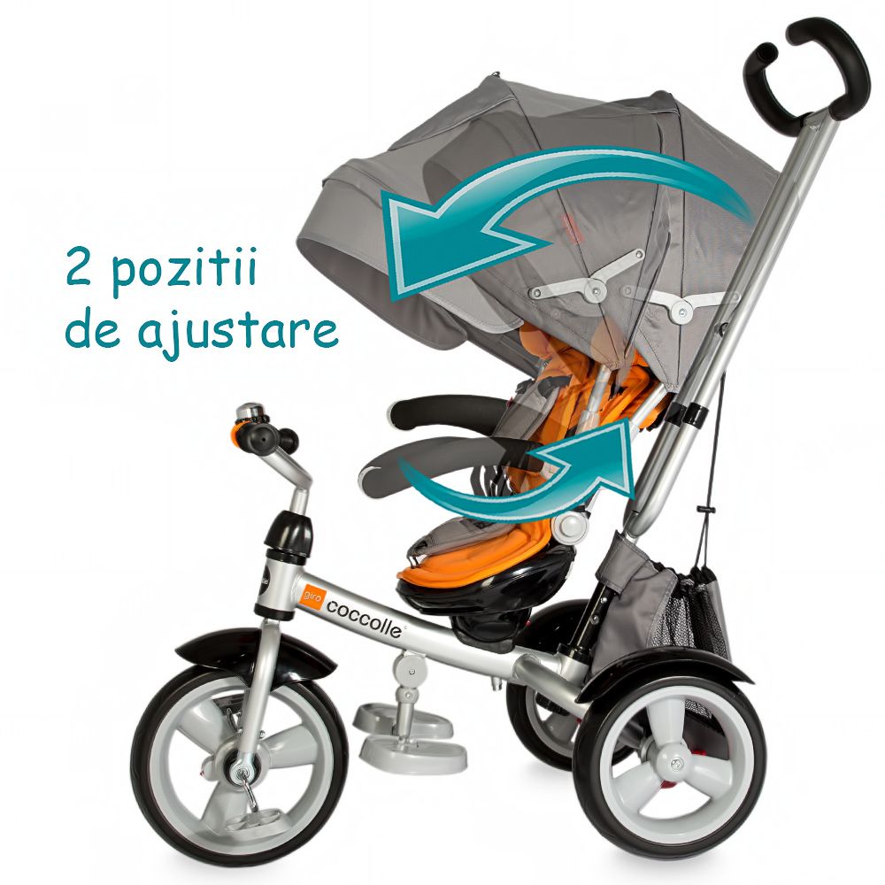 Tricicleta Coccolle Giro Multifunctionala Portocaliu