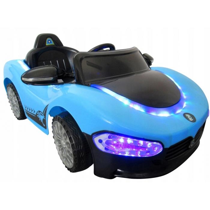 Masinuta electrica cu telecomanda cu baterii cabrio ma r-sport - albastru