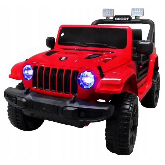 Masinuta electrica cu telecomanda cu baterii si functie de balansare jeep x10 ts-159 r-sport - rosu