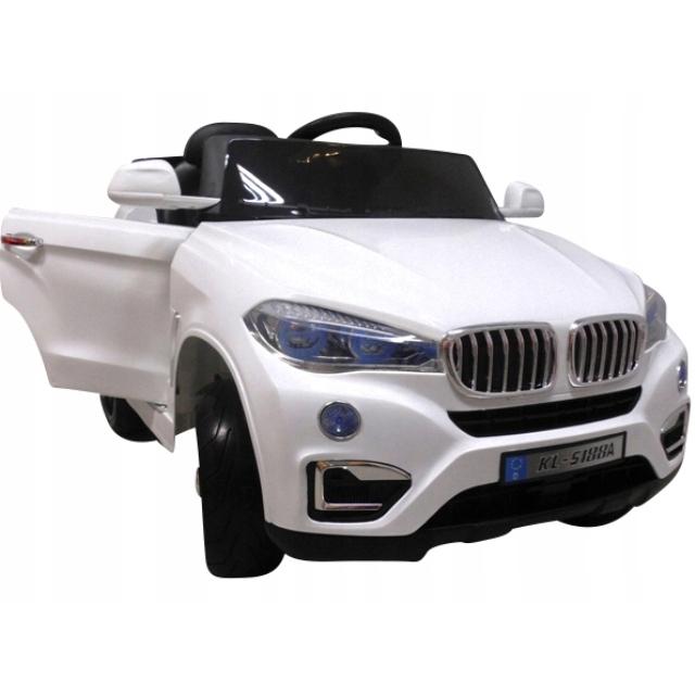 Masinuta electrica cu telecomanda si roti din spuma eva cabrio b12 kl-5188 r-sport - alb