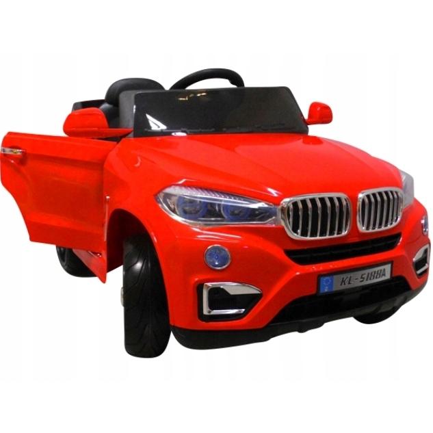 Masinuta electrica cu telecomanda si roti din spuma eva cabrio b12 kl-5188 r-sport - rosu