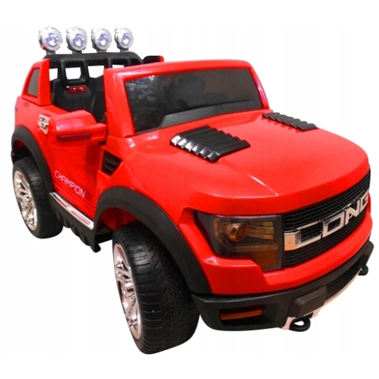 Masinuta electrica cu telecomanda si roti din spuma eva cabrio long bbh-1388 r-sport - rosu