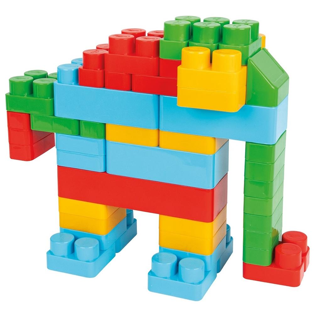 Jucarie Pilsan Cuburi de construit in cutie Jumbo Blocks 60 piese