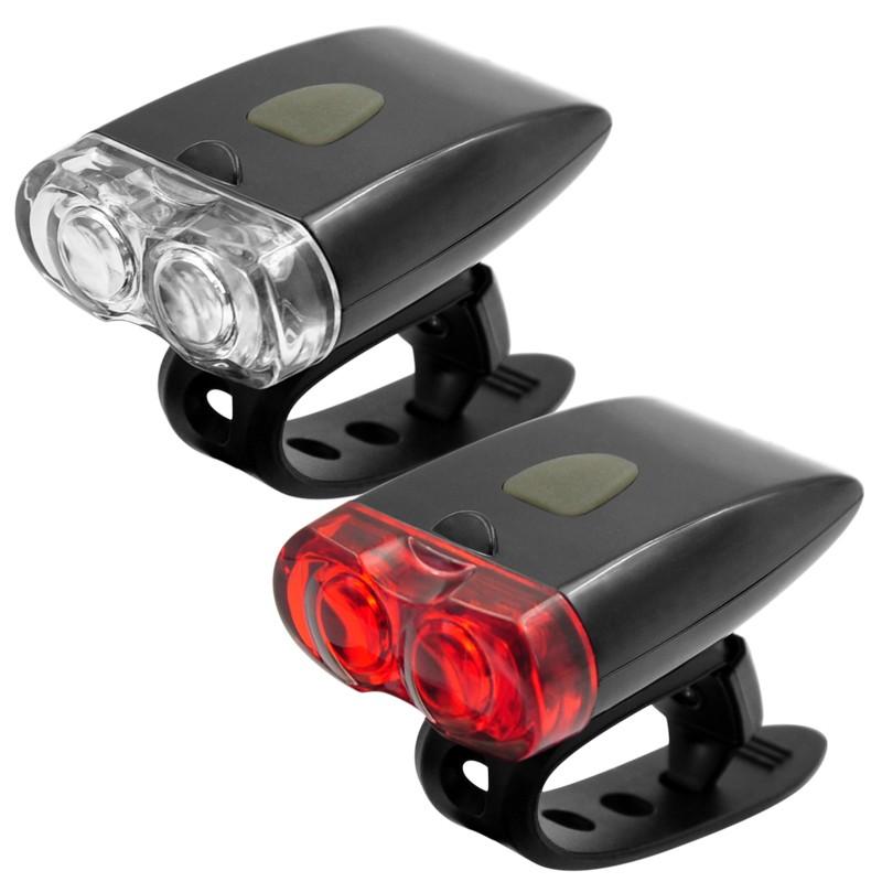 Set far si stop led bicicleta, reincarcabile usb, 3 moduri iluminare