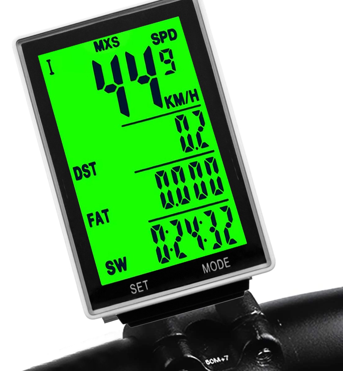 Kilometraj wireless pentru bicicleta, 15 functii, display led, ora, monitorizare consum calorii