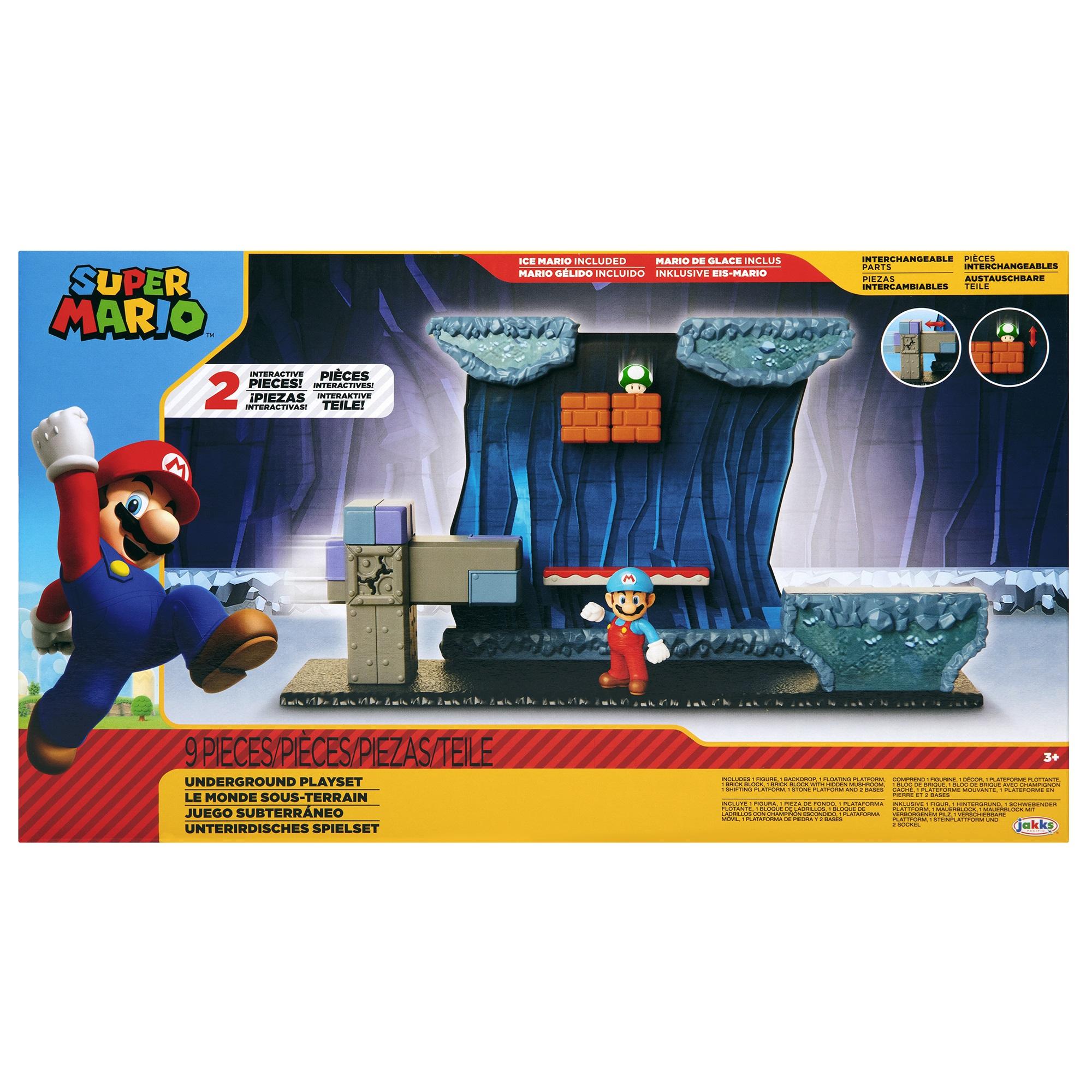 Nintendo Super Mario - Set de joaca subteran 6 cm
