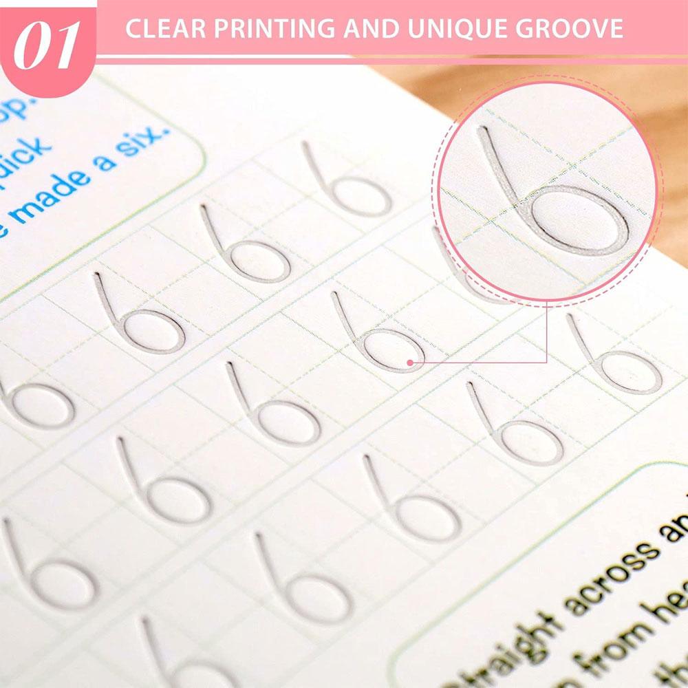Set cu 4 caiete de lucru si stilou magic pentru scris si desenat Sank Magic, rechizite scolare, multicolor, 19 cm X 13 cm