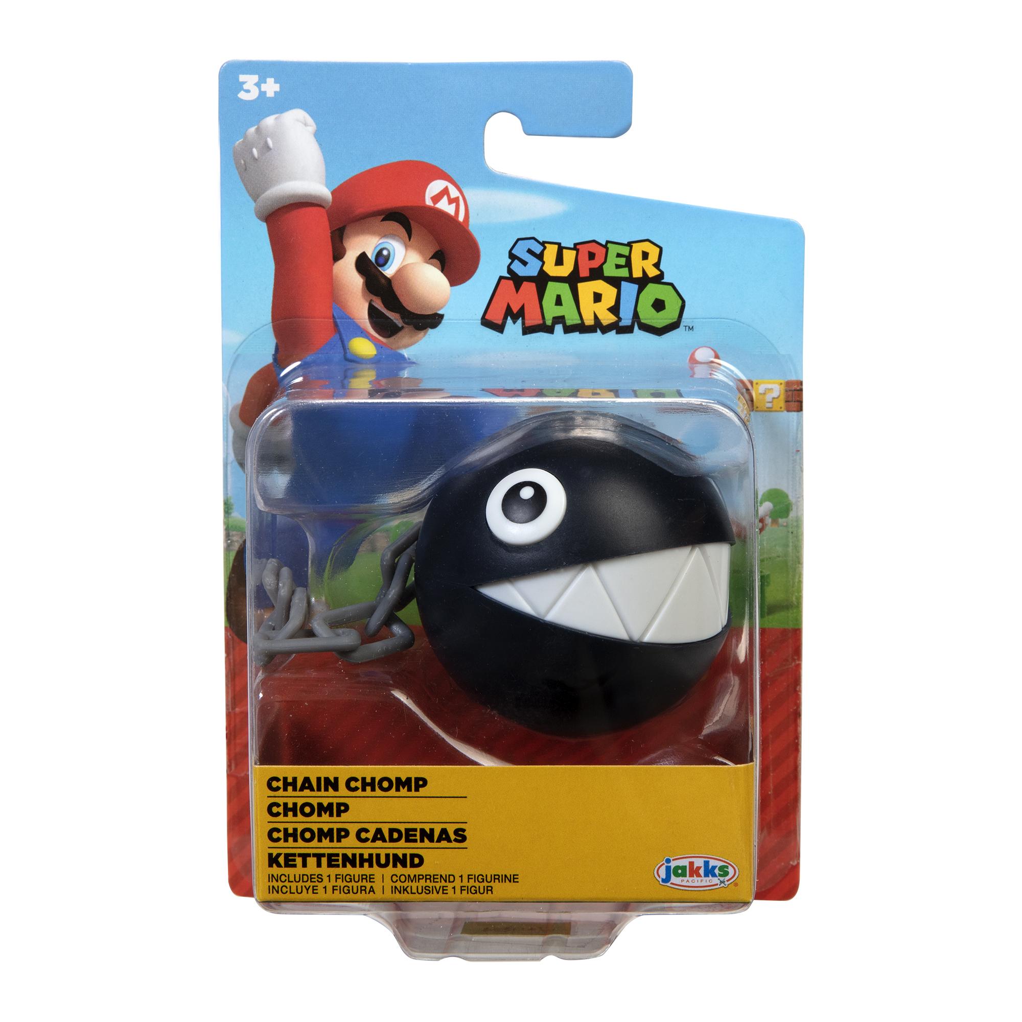Figurina Nintendo Super Mario - Chain Chomp, 6 cm