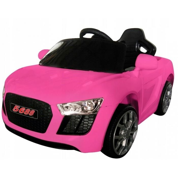 Masinuta electrica cu telecomanda cabrio aa4 r-sport - roz