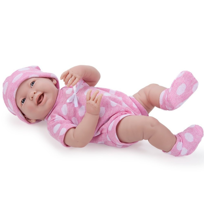 Jucarie Bebelus in costum roz