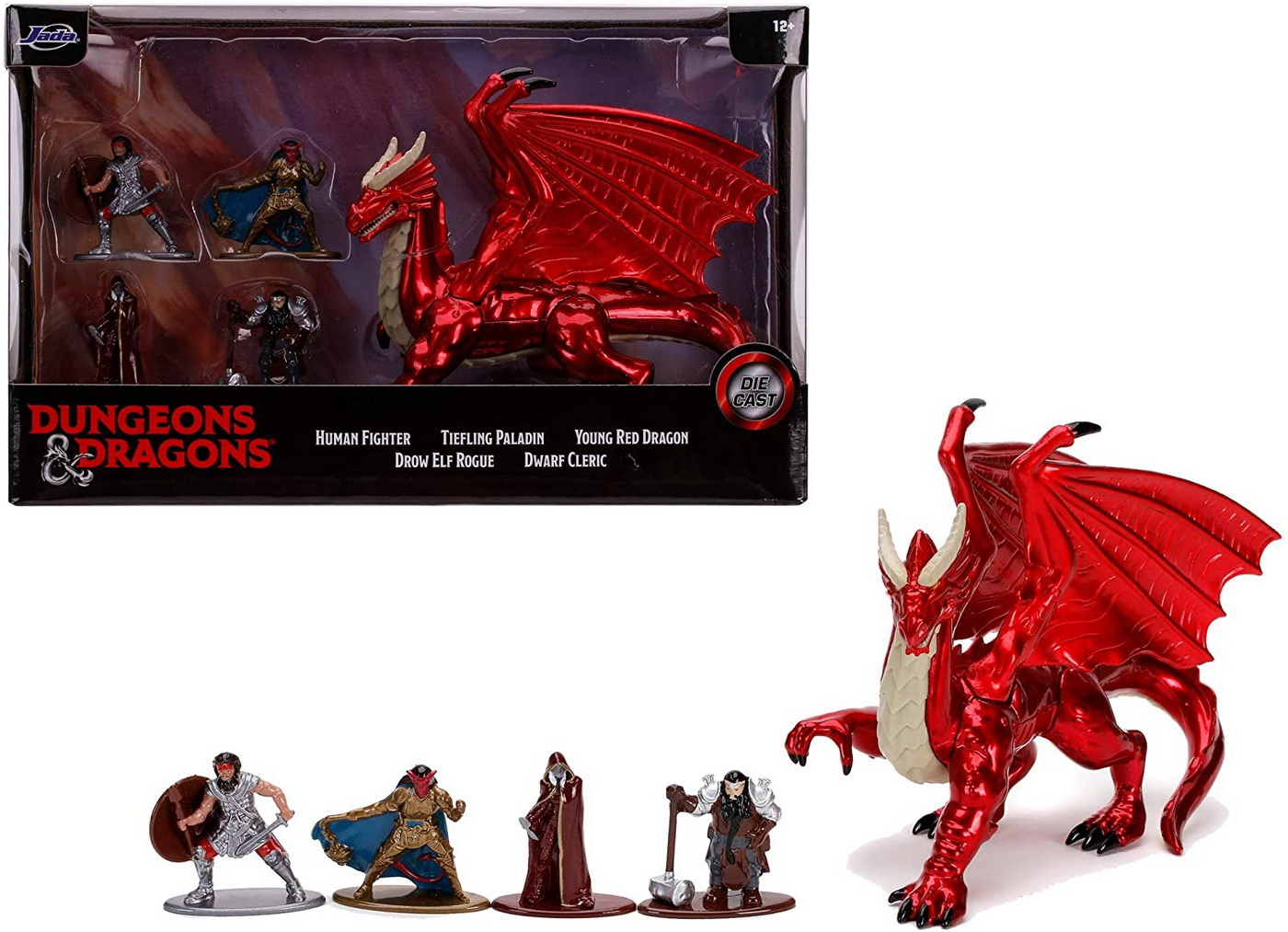 set 5 nano figurine din metal dungeons dragons 4 cm