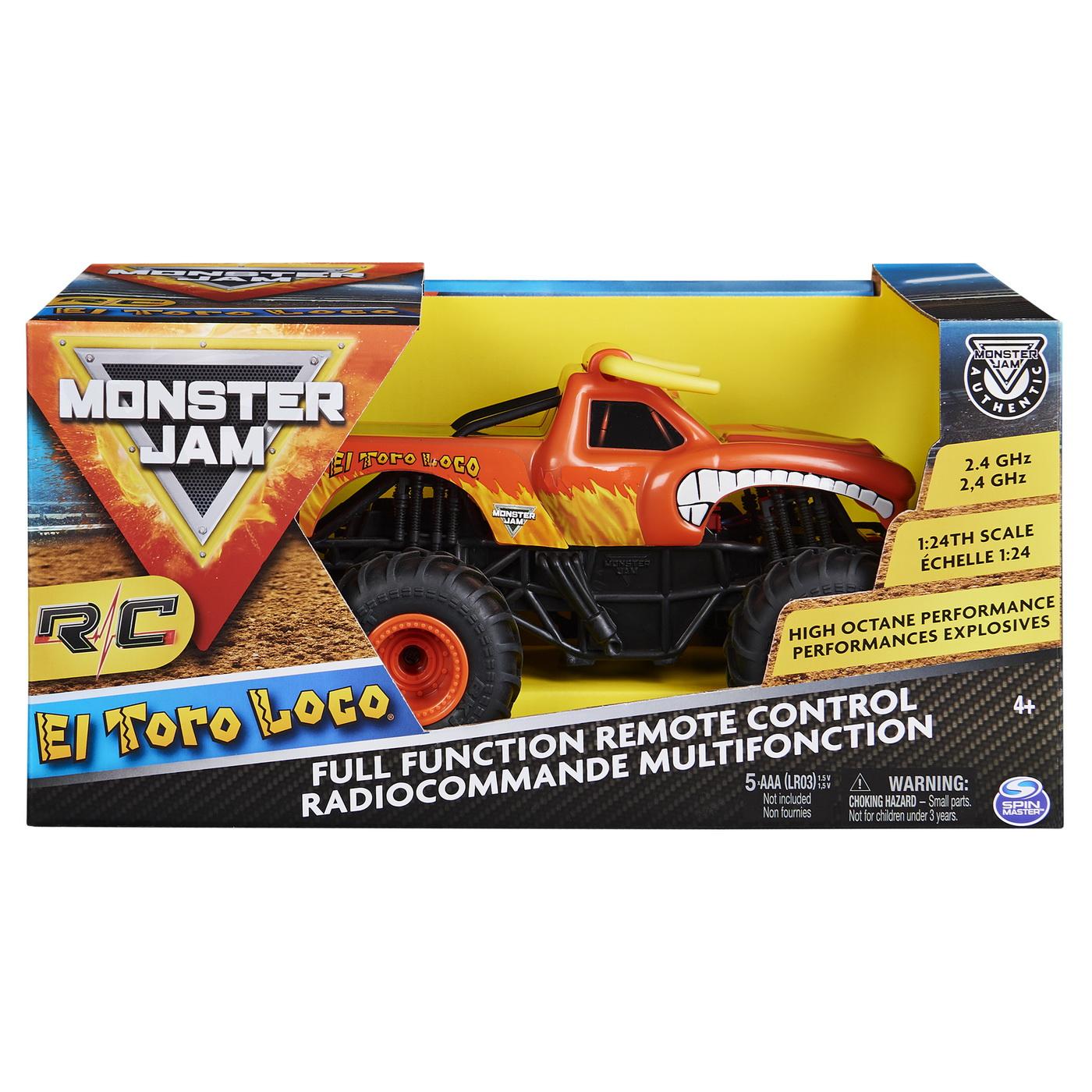 Monster jam rc masinuta el toro loco scara 1:24